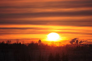 First light over the Legislative Building, Reg...