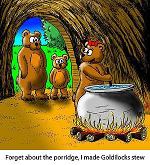 English: Cartoon of Grimm's fairy tale bears e...