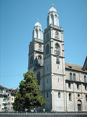 Zürich's principal church, and birthplace of t...