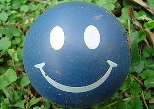 Happy face ball