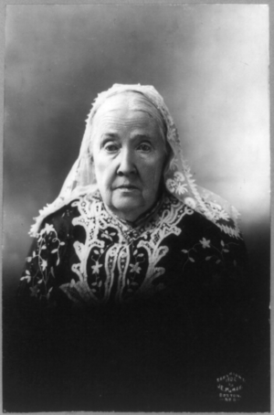 Julia Ward Howe, half-length portrait, facing ...