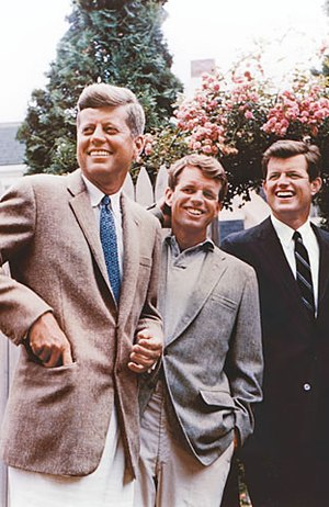 Kennedy brothers; left to right John, Robert, Ted.