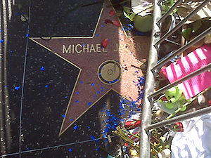 Michael Jackson's star on the Walk of Fame on Photo credit: Wikipedia)