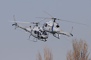 Royal Australian Navy Squirrel helicopters dur...