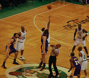 The opening tipoff of Game 2 of the 2008 NBA F...