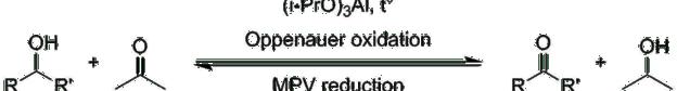 Oppenauer oxidation reaction scheme