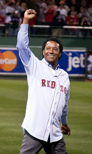 Long-time Boston Red Sox pitcher Pedro Martíne...