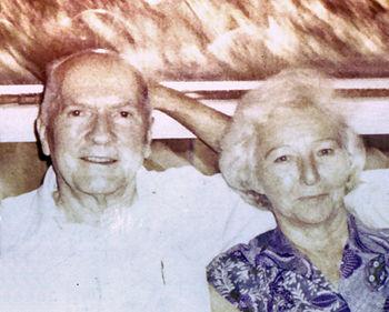 Robert A. Heinlein with Ginny Heinlein in 1980...