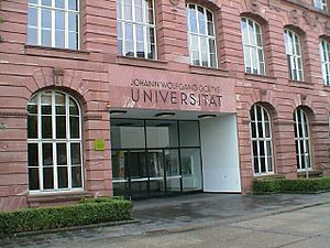 English: Johann Wolfgang Goethe University, Fr...