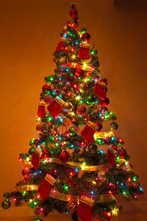 English: A Christmas Tree at Home