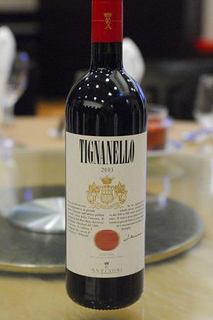 Italian Antinori's flagship Super Tuscan wine