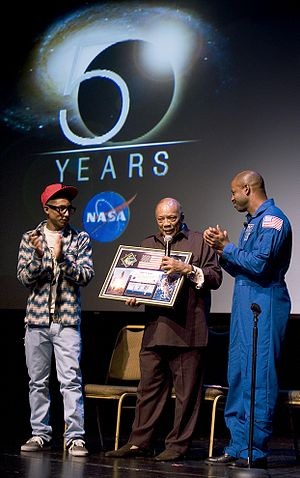 Leland Melvin and Pharrell Williams present a ...