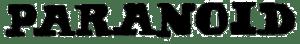 Black Sabbath's album Paranoid Logo