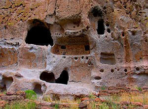 Cliff dwellings, Bandelier, New Mexico, USA