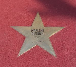 "English: Star of Marlene Dietrich at ""Bou..."