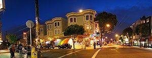 Street corner in Haight Ashbury (actually of H...