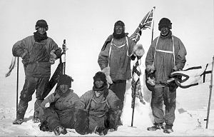 Last expedition of Robert Falcon Scott. The im...