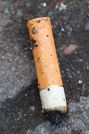 Cigarette butt.