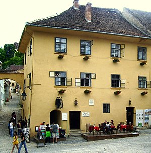 English: Born house of Vlad Tepes Dracula in S...