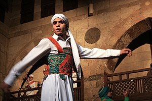 A Sufi Dancer in Cairo, Egypt