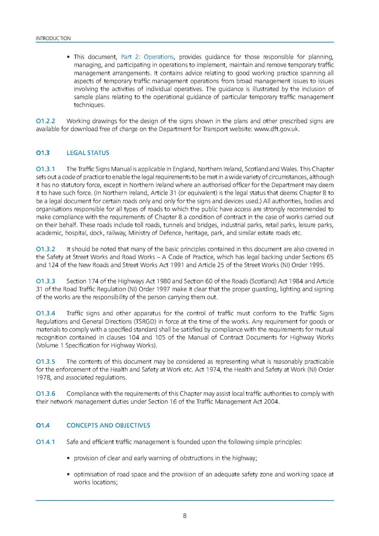 Page Uk Traffic Signs Manual