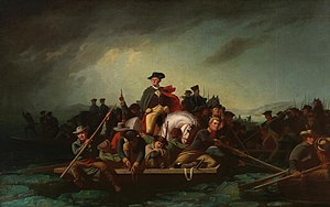 English: Washington Crossing the Delaware 1856...