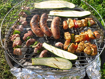 English: Barbecue Bosanski: Roštilj Deutsch: Grill