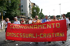 Gay christians at the National Gay Pride march...