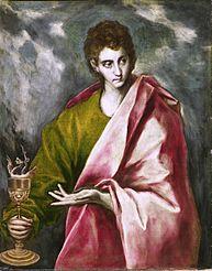 """""""San Juan Evangelista"""" por El Greco (1600)"""