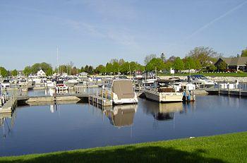 Ludington Michigan harbor