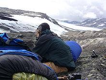 Westseite des Hardangerjøkulen und Trekking auf der Hochebene