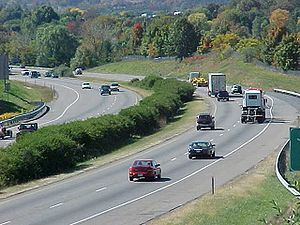 I-81 looking southbound near milepost 245 in H...