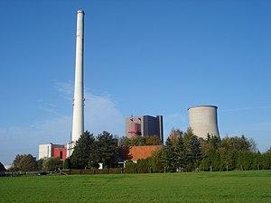 RWE powerplant in the city of Ibbenbüren