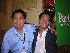 English: Filipino Pool Champions Jose Amang Pa...