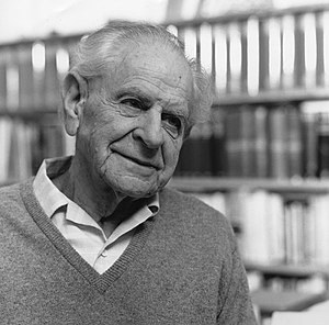 Karl Popper in 1990.