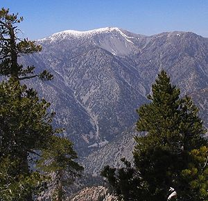 Mount San Antonio (Mt. Baldy), from the southe...