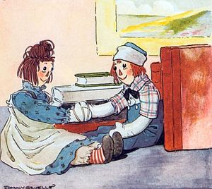 Raggedy Ann meets Raggedy Andy for the first t...