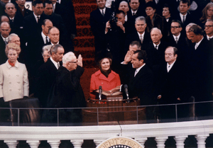 Richard Nixon being inaugurated as the 37th Pr...