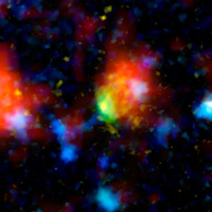 English: Picture of the super starbrust galaxy...
