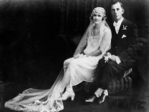 English: Wedding of Nancy and Clarrie Wieting,...