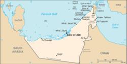 Bản đồ Các Tiểu Vương quốc Ả Rập Thống nhất