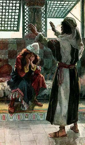 English: Nathan Rebukes David, as in 2 Samuel ...