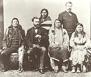 Ute delegation in Washington DC in 1880. Chipe...