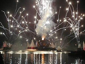 Globe Opens revealing final unity torch during...