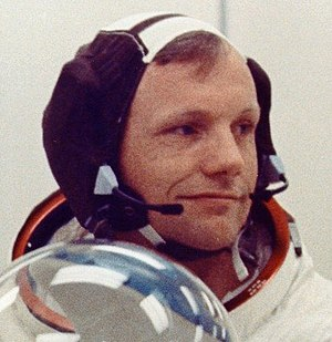 NASA Astronaut Neil Armstrong wearing
