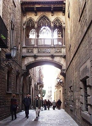 English: Neogothic-style bridge by architect J...