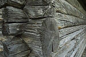 Detail from log cabin in Rendalen, Norway