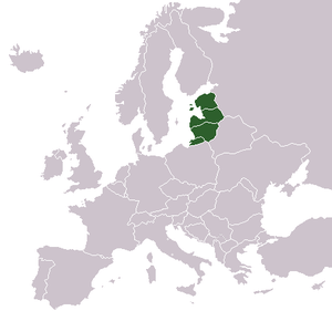 English: Locator map of the Baltic region – Es...
