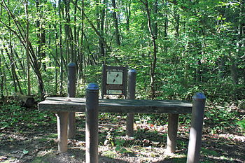 English: Fitness trail station, North Bay Park...