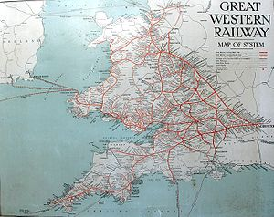 English: A map of the Great Western Railway sy...